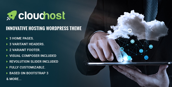 CloudHost – Responsive Hosting WordPress Theme