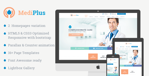 MediPlus – Responsive Template for Medical and Health