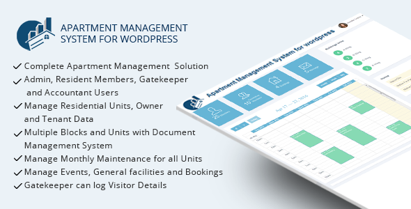 WPAMS - Apartment Management System for wordpress - CodeCanyon Item for Sale