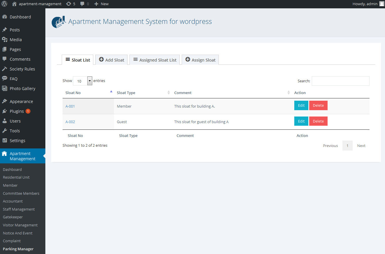 wpams apartment management system for wordpress