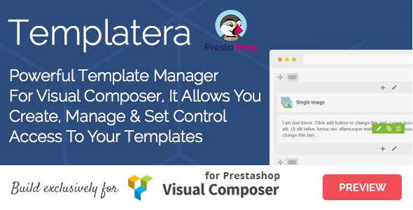 Templatera - Template Manager for Visual Composer Prestashop - CodeCanyon Item for Sale