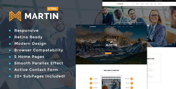 Martin - Multipurpose Responsive HTML5 Template - Business Corporate