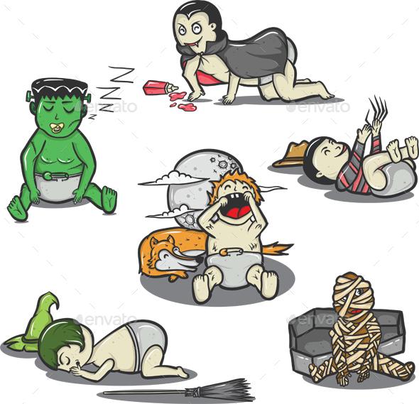 Baby Halloween Monsters