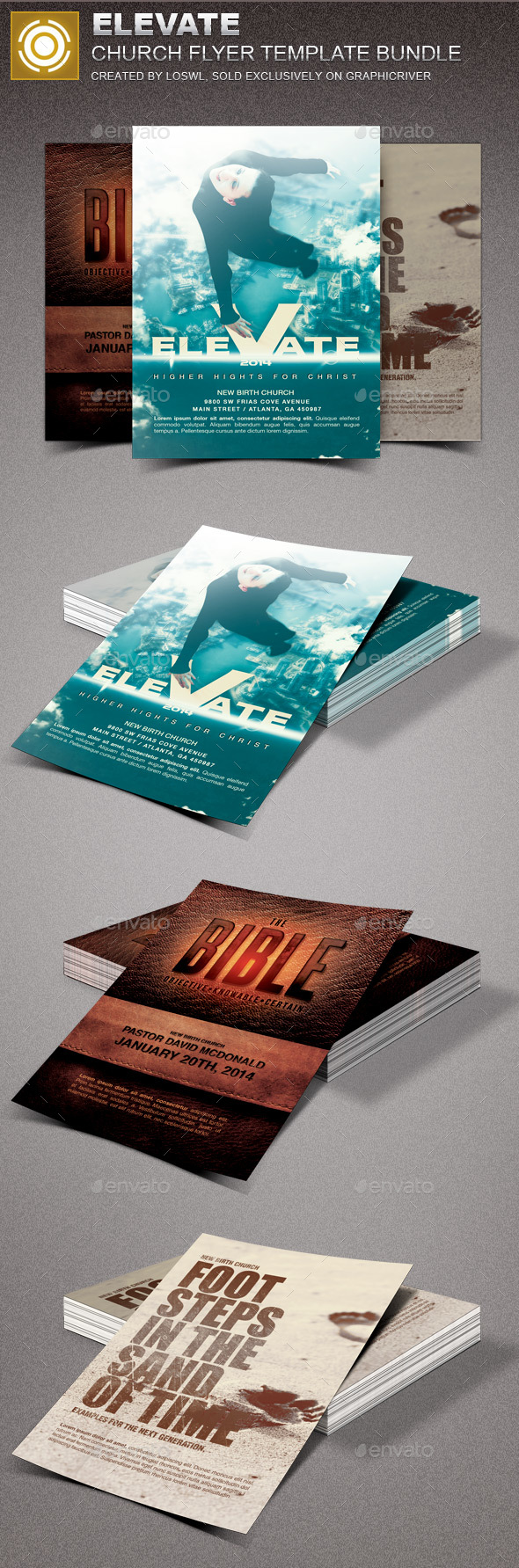 Elevate Church Marketing Flyer Template Bundle - Church Flyers