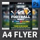 Soccer Euro 2016 A4 Flyer Template - GraphicRiver Item for Sale