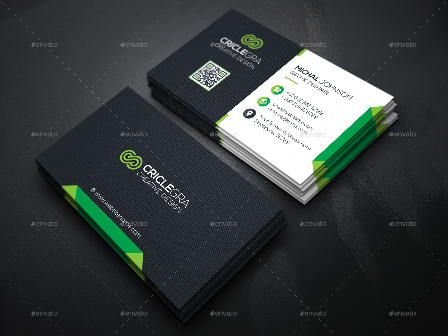 Business card bundle 3 in 1 by generousart graphicriver image set05technology business cardg magicingreecefo Gallery