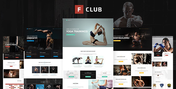 FightClub – Premium Crossfit Mma Bodybuilding Fitness & Yoga WP Theme