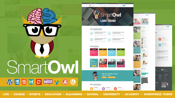 LMS / Course / eLearning / Education / Events / School / University / Academy WordPress Theme