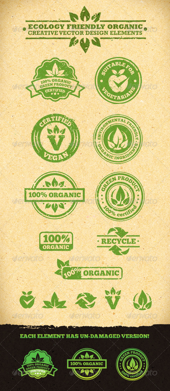 Ecology Friendly Organic Vector Design Elements - Health/Medicine Conceptual