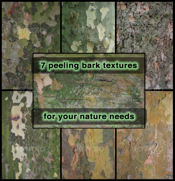 Peeling Bark  7-Pack - Wood Textures