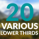 20 Various Lower Thirds - VideoHive Item for Sale