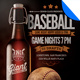 Baseball Sports Bar Promo Flyer Template - GraphicRiver Item for Sale