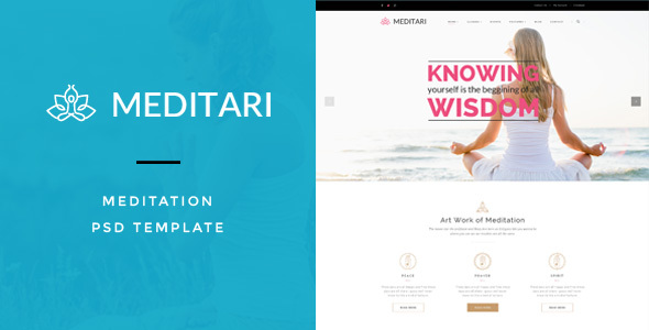 Meditary – Mediatation PSD Template