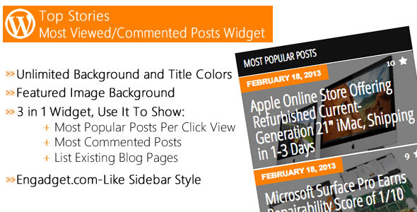 Top Stories - Most Popular Posts Widget - CodeCanyon Item for Sale