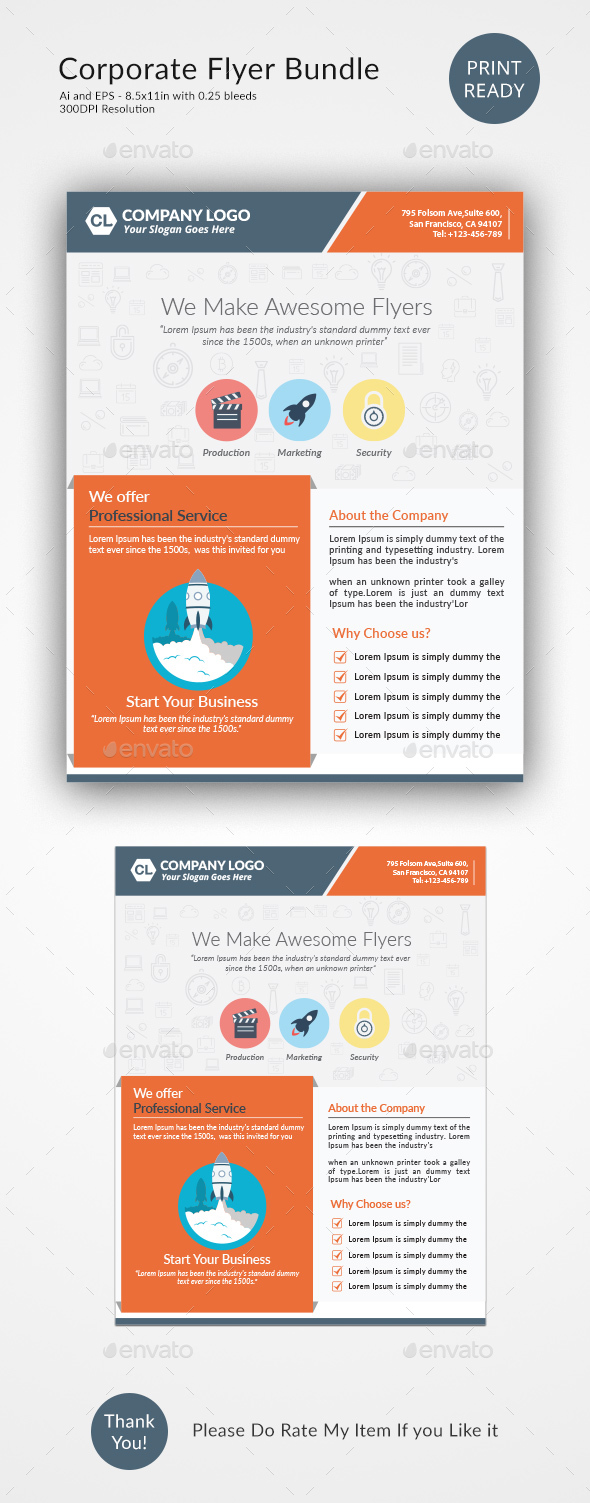 Corporate Flyer Design Template - Corporate Flyers