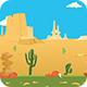 Desert World - Game Background #30 - GraphicRiver Item for Sale