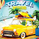 Travel Weekend Party Flyer - GraphicRiver Item for Sale