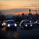 Cars On City Road At Dusk - VideoHive Item for Sale