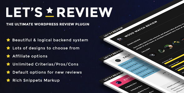Let's Review | WordPress Review Plugin With Affiliate Options - CodeCanyon Item for Sale