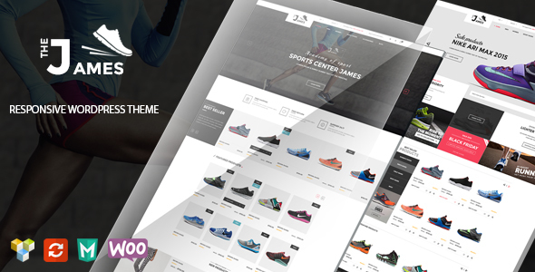 James – Responsive WooCommerce Shoes Theme