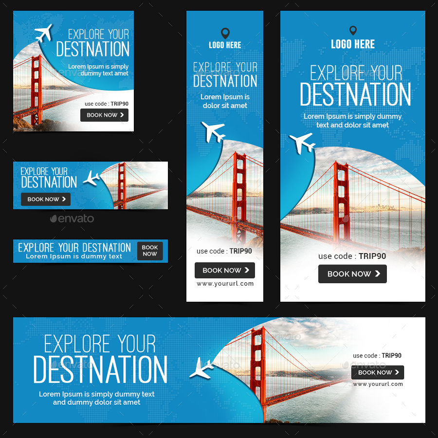 Tours Travel Banners By Doto