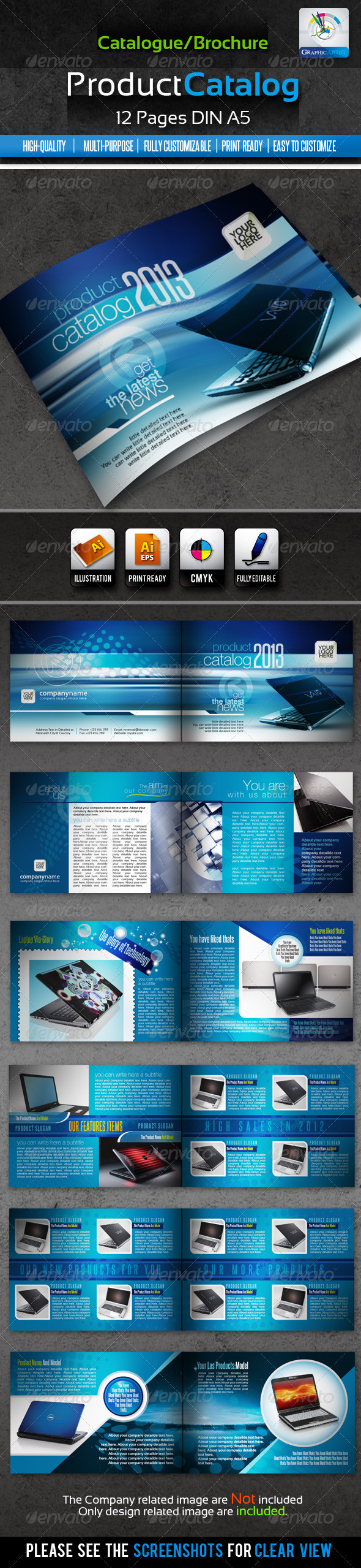 Corporate Product Catalogue/Brochure 12pages - Catalogs Brochures