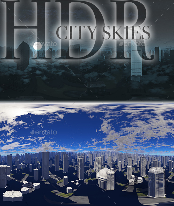 HDR City Skies - 3DOcean Item for Sale