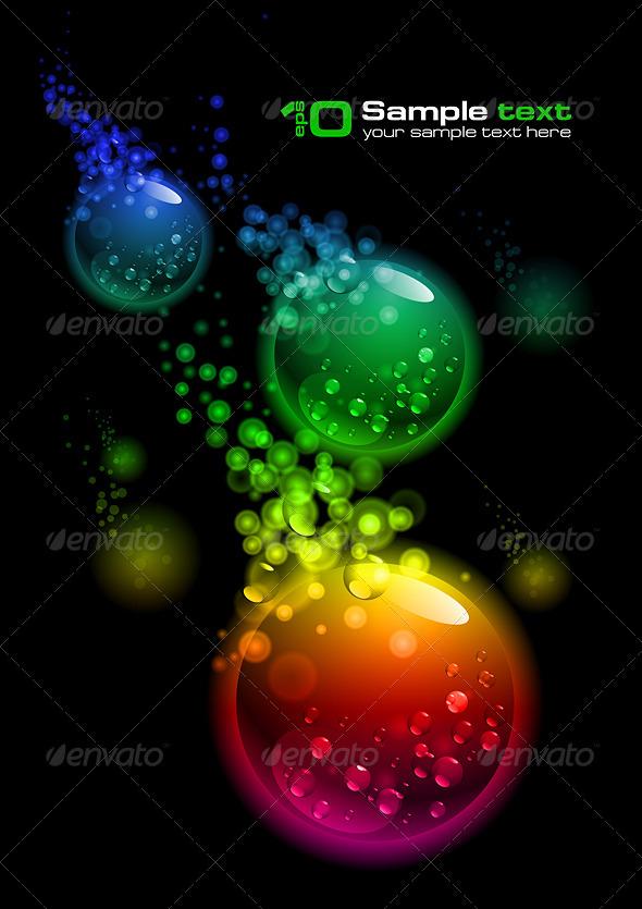 Vector abstract design. Bubbles - Abstract Conceptual
