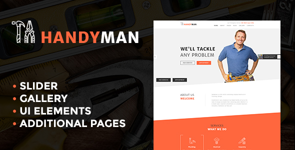 Handyman Services - Responsive Joomla Template - Business Corporate