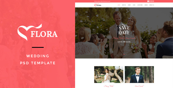 Flora : Wedding PSD Template - Miscellaneous PSD Templates