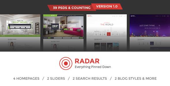 Radar - Multipurpose Directory PSD Template