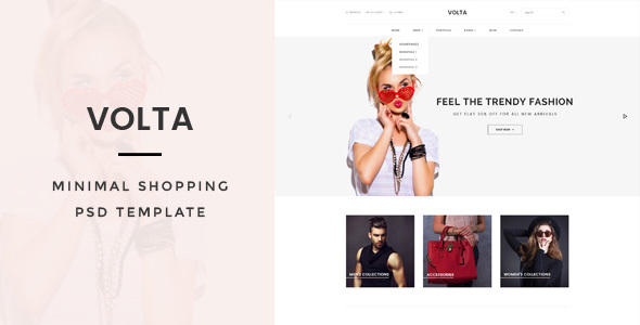 Volta : Minimal Shopping PSD Template