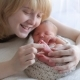 Mom And Her Tiny Newborn Baby's - VideoHive Item for Sale