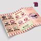 TriFold Cupcakes Menu Vol. 2 - GraphicRiver Item for Sale