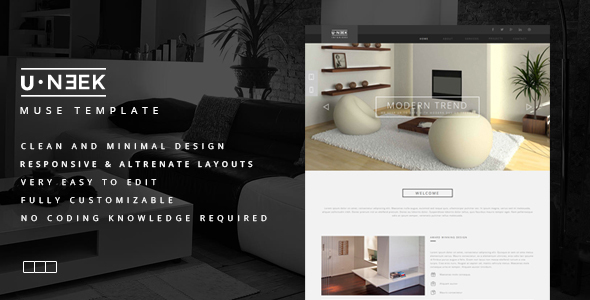 U Neek - Responsive Muse Template - Corporate Muse Templates