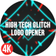 High Tech Glitch Logo Opener - VideoHive Item for Sale