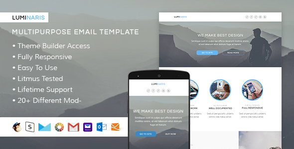 Luminaris – Responsive Email + StampReady Builder