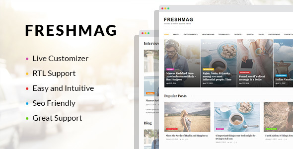 Freshmag – Clean WordPress Magazine Theme
