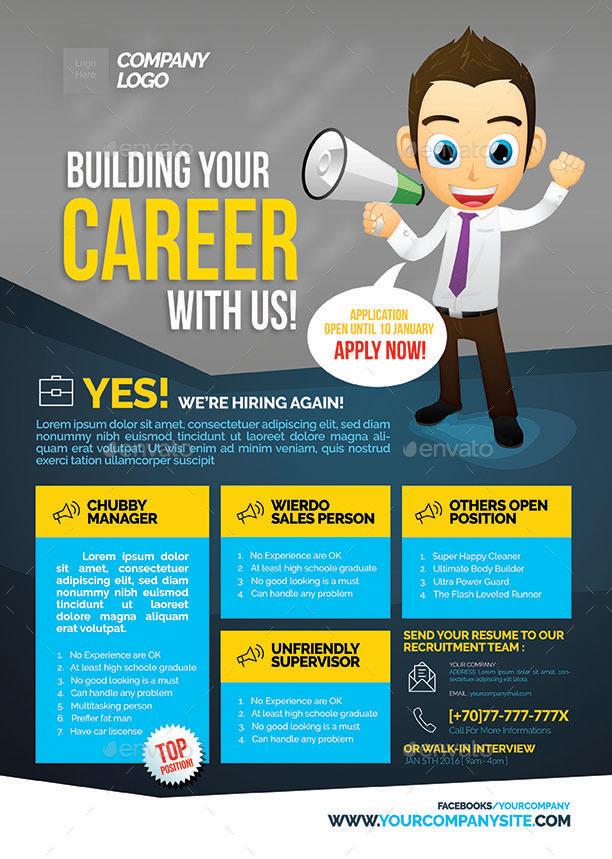 job vacancy flyer by shamcanggih