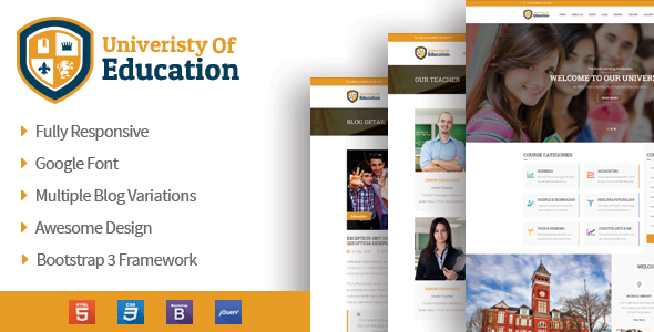 University of Education – Educational HTML5 Theme