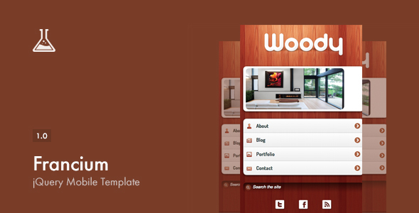 Francium - Mobile Template - Mobile Site Templates