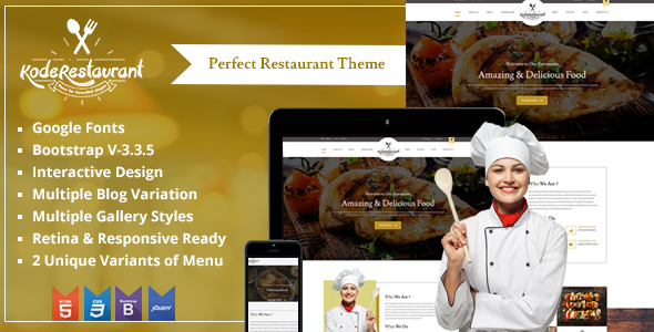 Food Court – Responsive HTML Theme