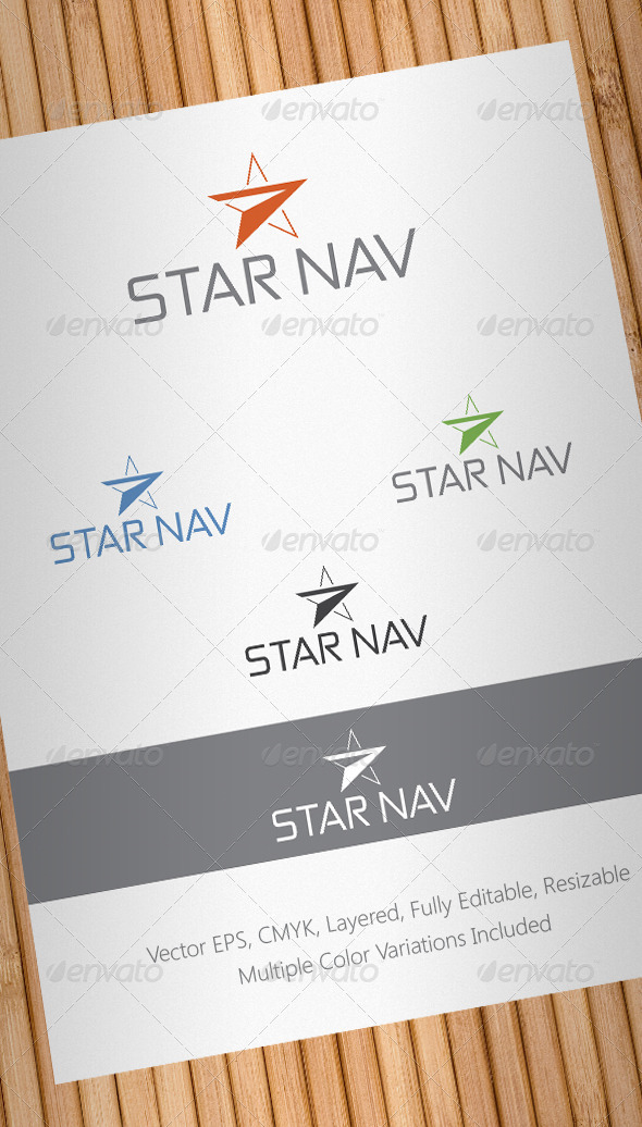 Star Navigation Logo Template - Abstract Logo Templates