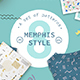 Geometric Pattern Memphis Style - GraphicRiver Item for Sale