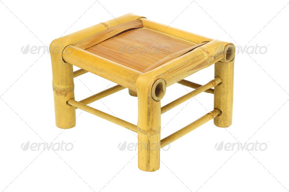 Chinese Bamboo Stool - Stock Photo - Images