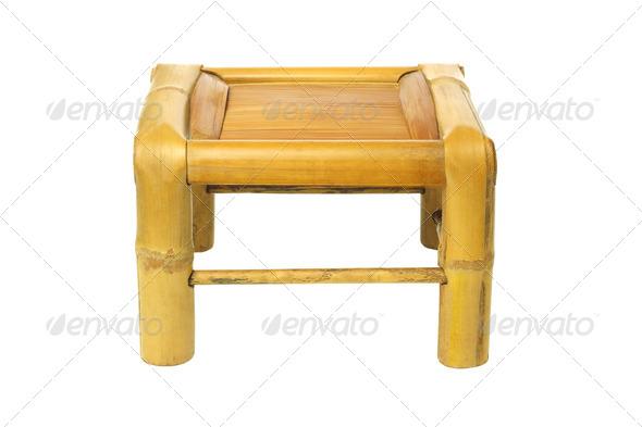 Bamboo stool - Stock Photo - Images