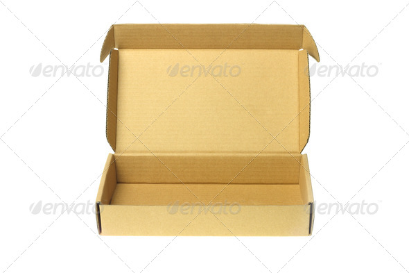 Open Cardboard Box - Stock Photo - Images