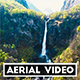 Aerial Video of a Tropical Waterfall in Southern Switzerland - VideoHive Item for Sale