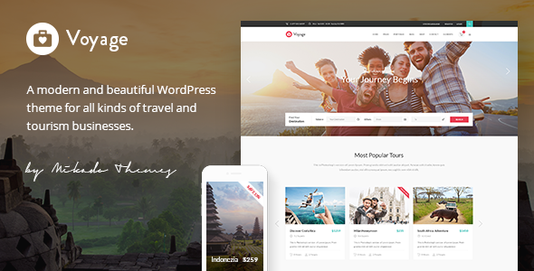 Voyage – A Modern Travel, Tour & Booking Theme