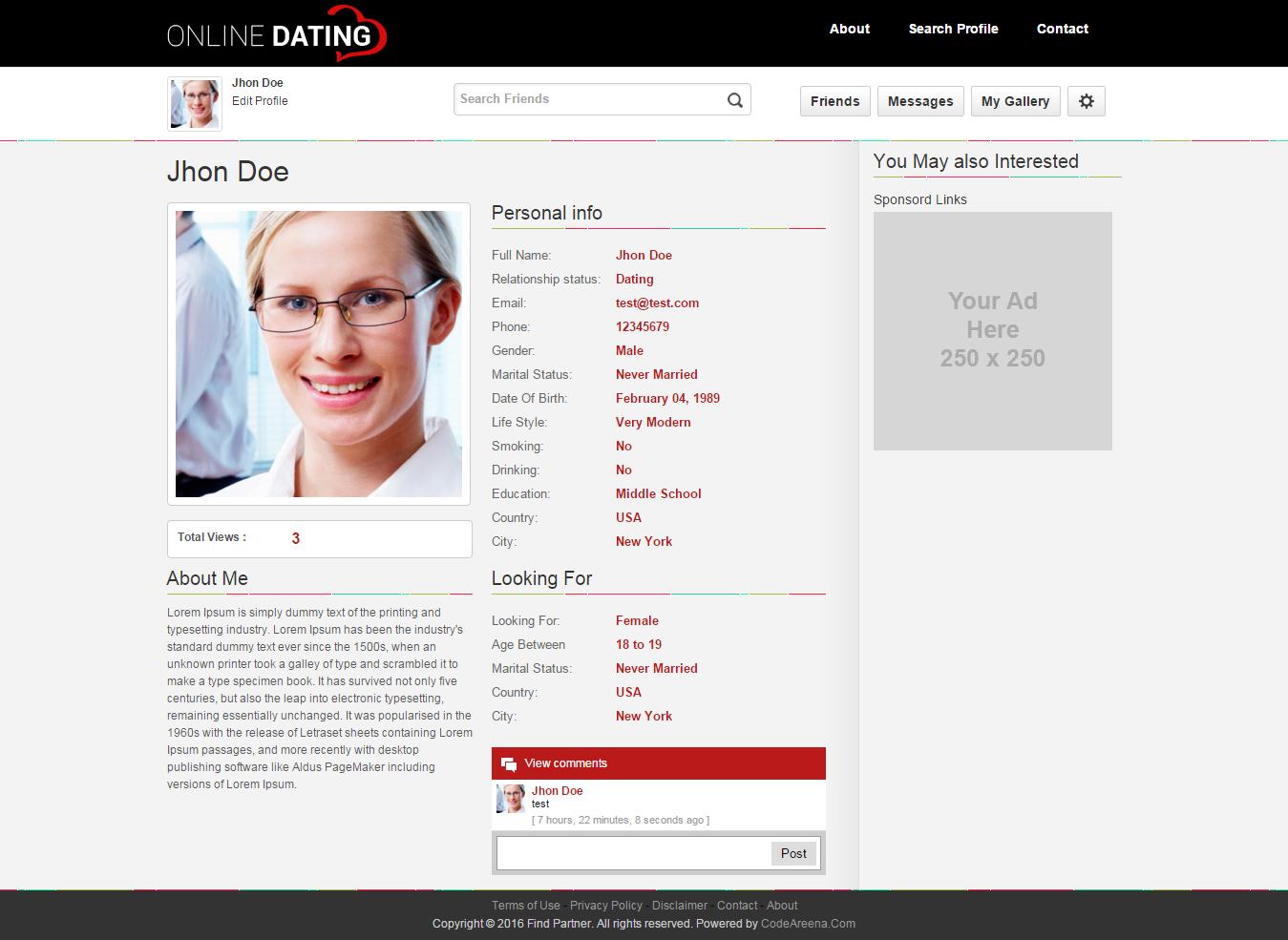 dating website names